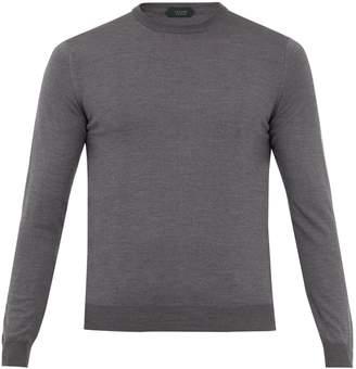 Zanone Crew-neck flex wool-knit sweater