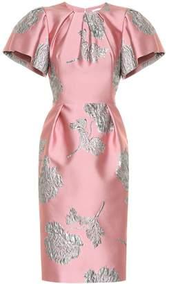 Alexander McQueen Floral brocade midi dress