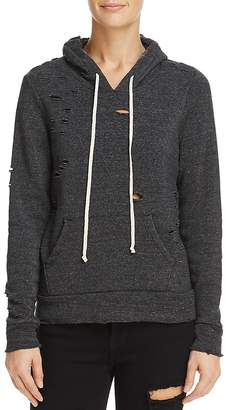 Alternative Distressed Hooded Sweatshirt