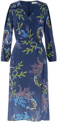 Oui V neck long sleeve dress