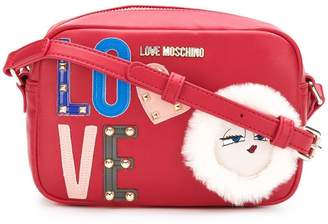 Love Moschino embellished logo crossbody bag