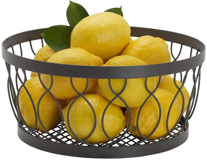 Gourmet Basics Rustic Farmstand Centerpiece Basket