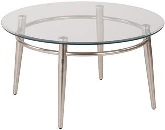 Osp Designs OSP Designs Round Metal & Glass Coffee Table