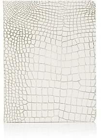 Barneys New York Croc-Embossed Leather Refillable Journal - White
