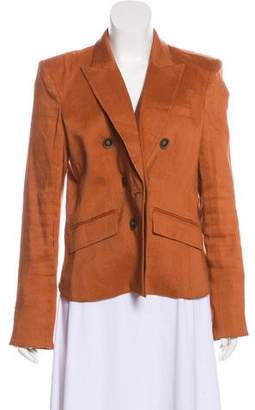 Veronica Beard Peak-Lapel Long Sleeve Blazer