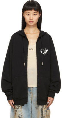 Off-White Off White Black 3D Line Zip-Up Hoodie