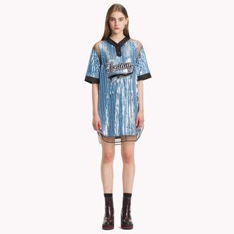 Tommy Hilfiger Sequined Baseball Shirt Dress