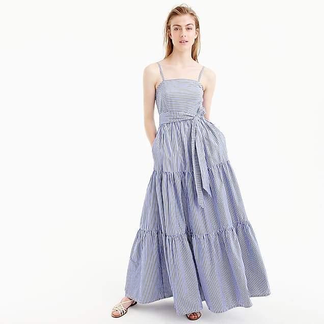 Tiered maxi dress in stripe