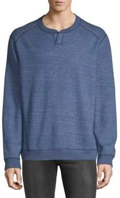 Tommy Bahama Flipsider Split Neck Reversible Sweatshirt