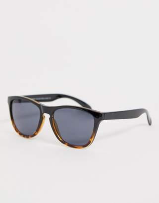 7x SVNX square frame sunglasses in black and tort mix