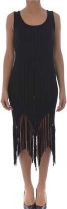 Moschino Fringed Rib Knit Tank Dress