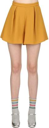 L'Autre Chose Wool Crepe Shorts