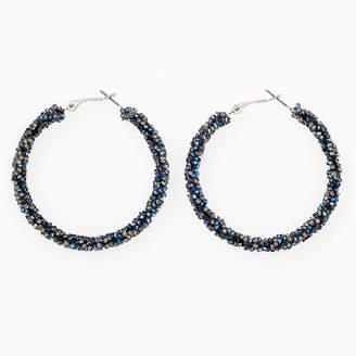 BIJOUX BAR Bijoux Bar Blue 2 Inch Hoop Earrings