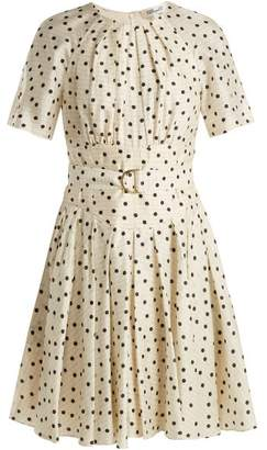 Diane von Furstenberg Ana Polka Dot Print Silk Dress - Womens - Cream Print