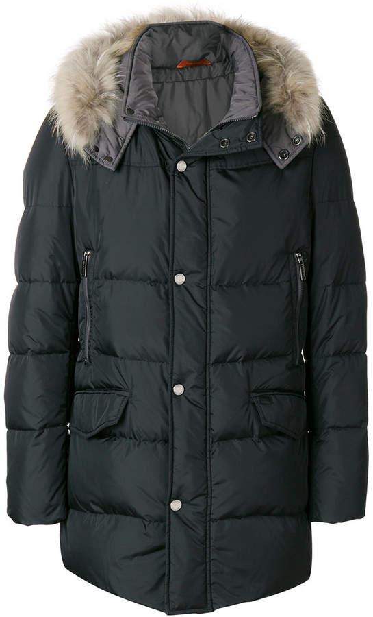Baldinini hooded padded coat