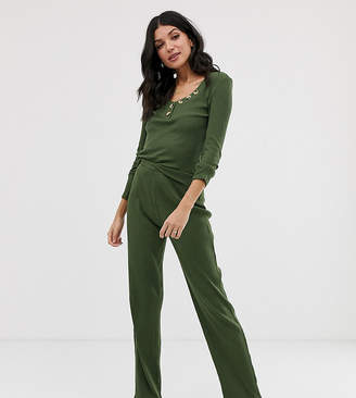 Asos Tall DESIGN Tall mix & match lounge ribbed pants