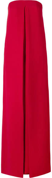 Draped Silk-crepe Jumpsuit - Red