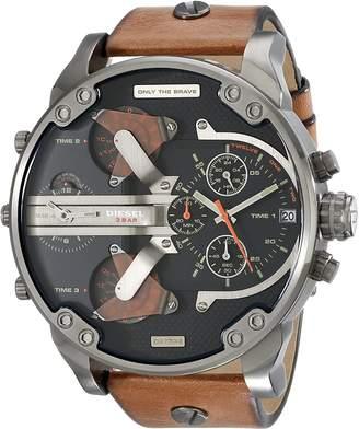 Diesel Men's DZ7332 Mr Daddy 2.0 Gunmetal Leather Watch