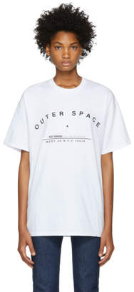 Raf Simons White Tour Regular Fit T-Shirt