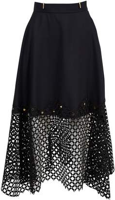 Kolor Black Wool Skirts