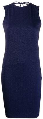 Fisico lurex fitted dress