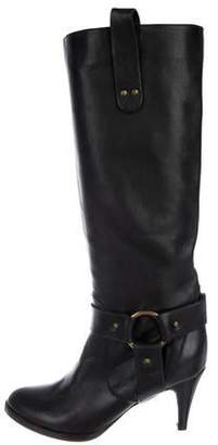 L'Autre Chose Leather Round-Toe Knee-High Boots