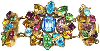 One Kings Lane Vintage Czech Multicolor Faceted Stone Bracelet - Little Treasures