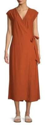 Eileen Fisher Sleeveless Wrap Jumpsuit