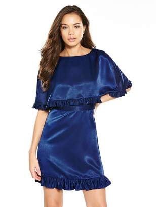 Very Frill Cape Dress