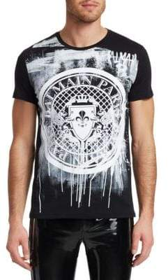 Balmain Graphic Coin Logo Tee