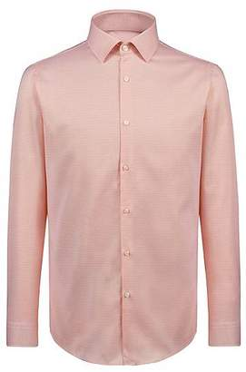 HUGO BOSS Slim-fit shirt in structured cotton