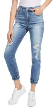 Dollhouse Juniors' Ripped Jogger Jeans