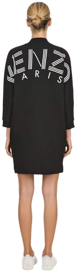 Rubber Logo Printed Cotton Jersey Dress