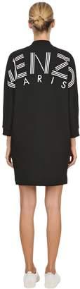 Kenzo Rubber Logo Printed Cotton Jersey Dress