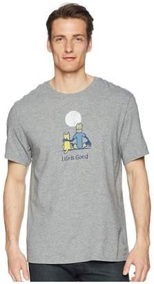 Life is Good Jake Rocket Moon Smooth Tee Men's T Shirt