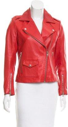 Sandro Leather Moto Jacket $195 thestylecure.com