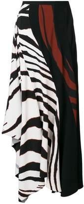 Roberto Cavalli contrast flared skirt