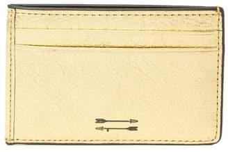 Uri Minkoff Kelso Metallic Leather Card Case