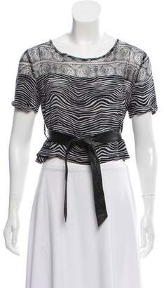 Pierre Balmain Sheer Printed Top