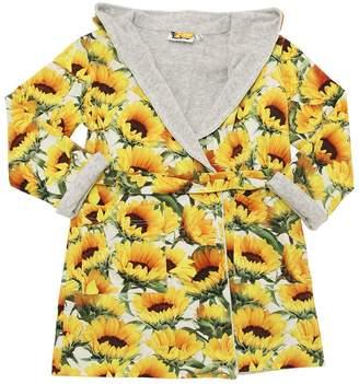 Molo Sunflower Cotton Terrycloth Bathrobe