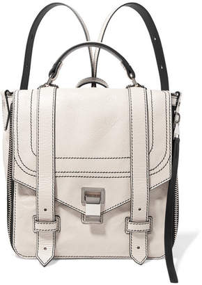 Proenza Schouler Ps1+ Textured-leather Backpack - Cream