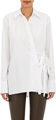Helmut Lang Women's Modified Wrap Blouse $345 thestylecure.com
