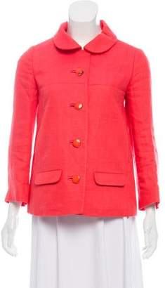 Chloé Collared Linen Jacket