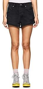 Ksubi Women's Roll'n Out Distressed Denim Shorts - Black