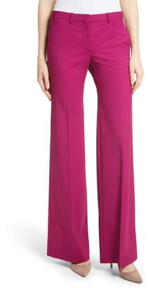 Theory Demetria 2 Flare Leg Good Wool Suit Pants