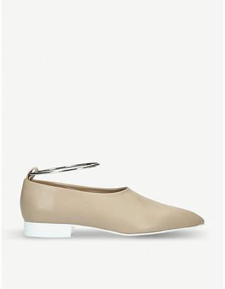 Jil Sander Ankle bracelet leather loafers