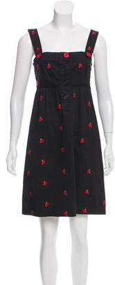 Sonia Rykiel Sonia by Embroidered Mini Dress