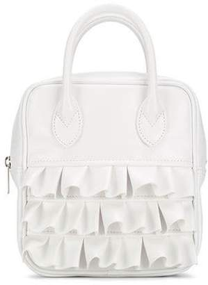 Comme des Garcons small ruffled tote bag