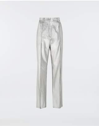 Maison Margiela Silver Coated Casual Trousers