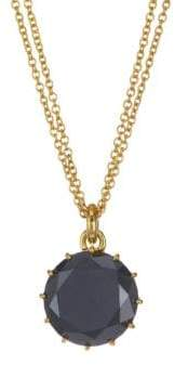 Black Diamond 18K Yellow Gold & Pendant Necklace